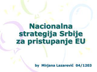Nacionalna strategija Srbije za pristupanje EU