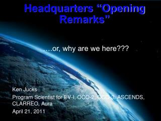 "Headquarters ""Opening Remarks"""