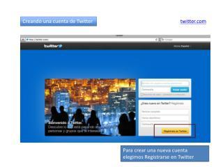 Creando una cuenta de Twitter