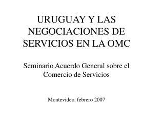 ¿Qué son los servicios y cómo se miden? Ubicación de los servicios en la economía uruguaya