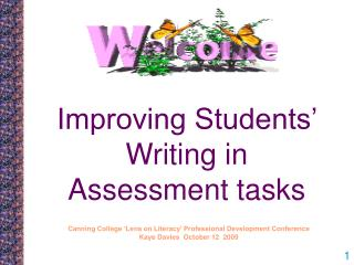 Improving Students' Writing in Assessment tasks