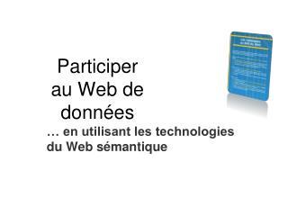 Participer  au Web de données