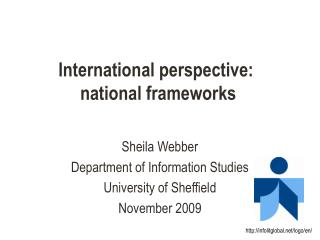 International perspective:  national frameworks
