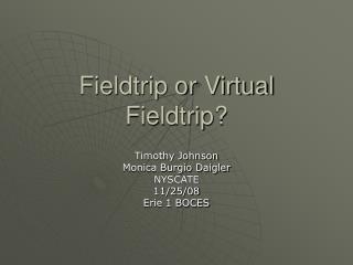 Fieldtrip or Virtual Fieldtrip?