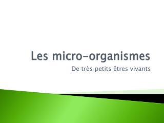 Les micro-organismes