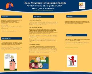 Basic Strategies for Speaking English