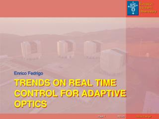 Trends on real time control for adaptive optics