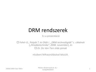 DR M rendszerek