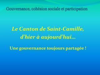 Gouvernance, coh�sion sociale et participation
