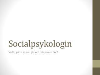 Socialpsykologin