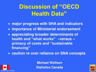 "Discussion of ""OECD Health Data"""