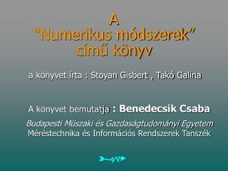 """A  """"Numerikus módszerek"""" című könyv"""