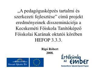 Rigó Róbert 2008.