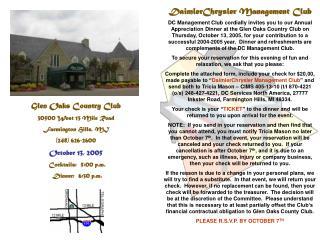 DaimlerChrysler Management Club