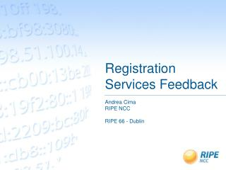 Registration Services Feedback