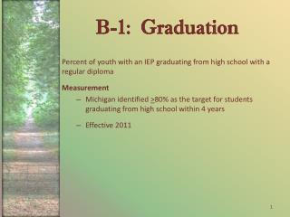 B-1:  Graduation
