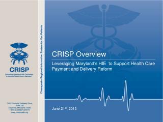 CRISP Overview