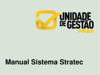 Manual Sistema  Stratec