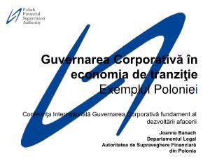 Conferinţa Internaţională Guvernarea Corporativă fundament al dezvoltării afacerii