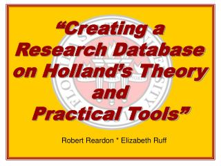 """Creating a Research Database on Holland's Theory and  Practical Tools"""