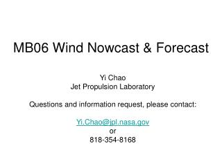 MB06 Wind Nowcast & Forecast