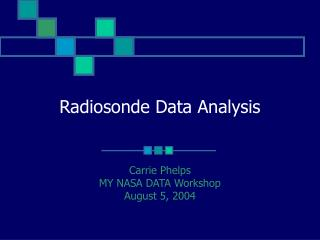 Radiosonde Data Analysis