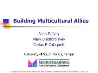 Building Multicultural Allies