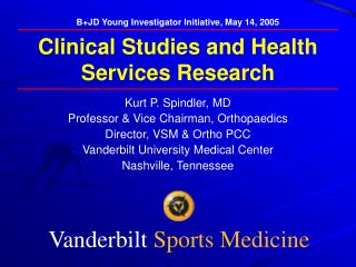 Clinical Studies and Health Services Research