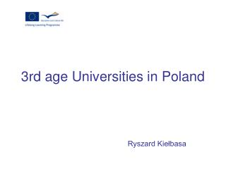 3rd age Universities in Poland