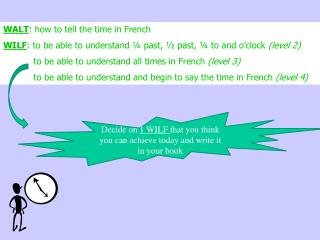 WALT : how to tell the time in French