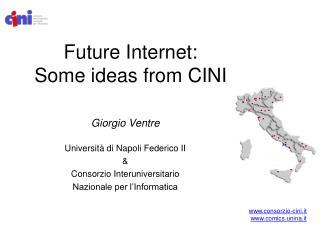 Future Internet: Some ideas from CINI