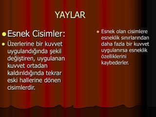 YAYLAR
