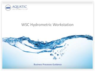 WSC Hydrometric Workstation