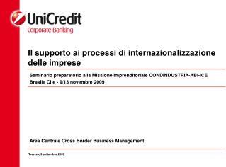 Il supporto ai processi di internazionalizzazione delle imprese