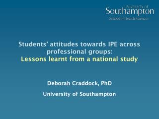 Students  attitudes towards IPE across professional groups:  Lessons learnt from a national study