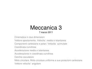 Meccanica 3 7 marzo 2011