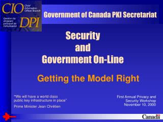 Security  and  Government On-Line