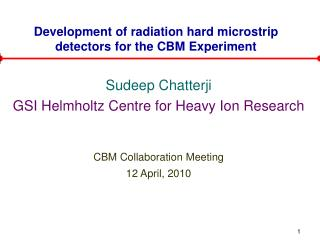 Development of radiation hard microstrip detectors for the CBM Experiment