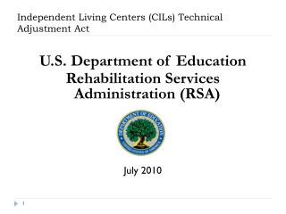 Independent Living Centers (CILs) Technical Adjustment Act