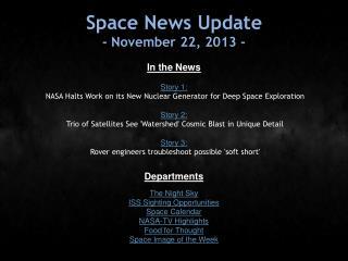Space News Update - November 22, 2013 -