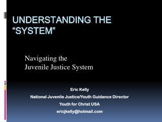 "Understanding the ""System"""