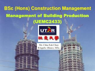 BSc (Hons) Construction Management