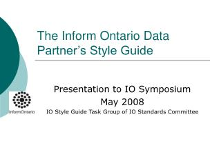 The Inform Ontario Data Partner's Style Guide