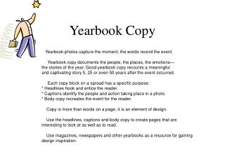 Yearbook Copy