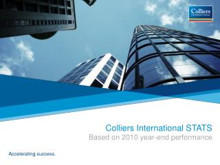 Colliers International STATS  Based on 2010 year-end performance