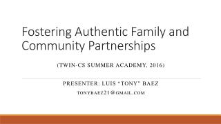 Parental Involvement in the Hispanic