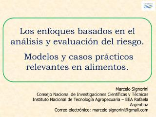 Los enfoques basados en el análisis y evaluación del riesgo.