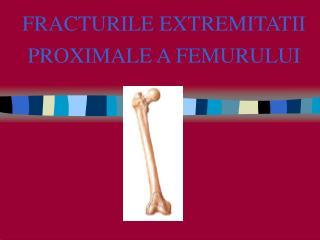 FRACTURILE EXTREMITATII PROXIMALE A FEMURULUI