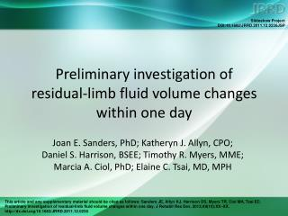 Preliminary investigation of  residual-limb fluid volume changes within one day