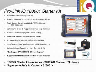 Pro-Link iQ 188001 Starter Kit